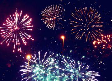Power point Fireworks Wallpaper