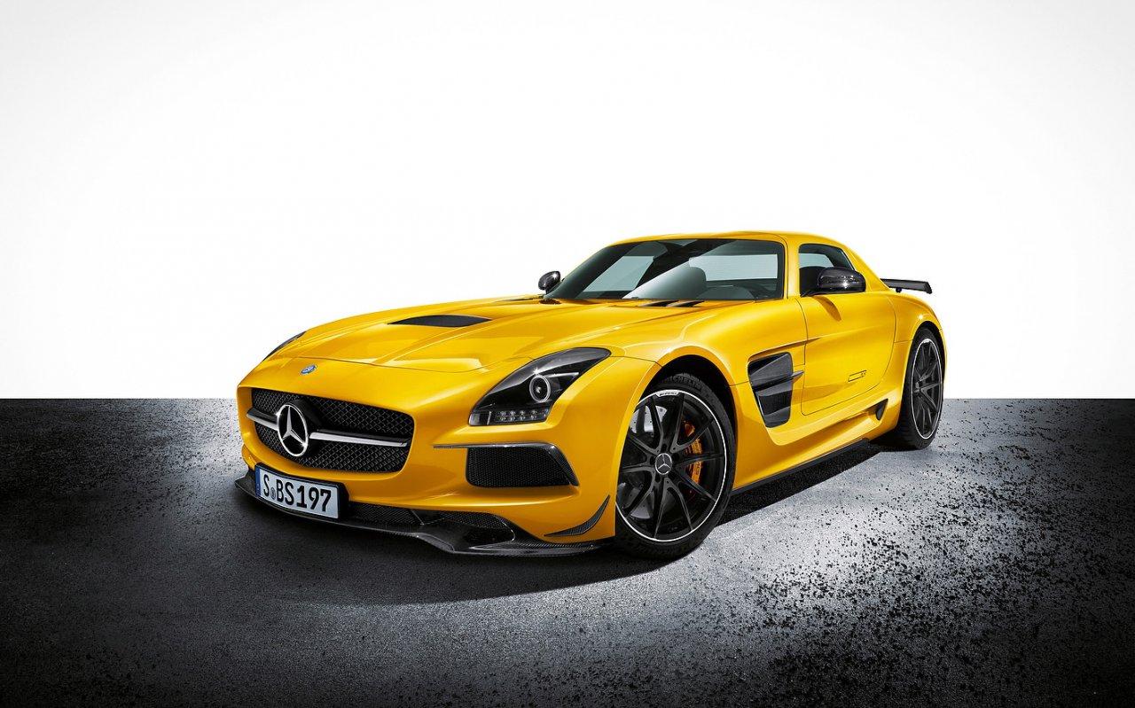 Yellow Mercedes-Benz SLS Black Series