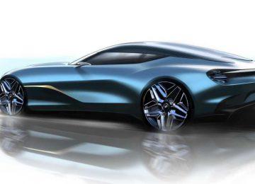 Blue Aston Martin DBS GT