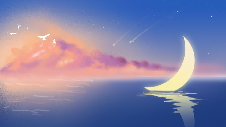 Amazing Moon Background