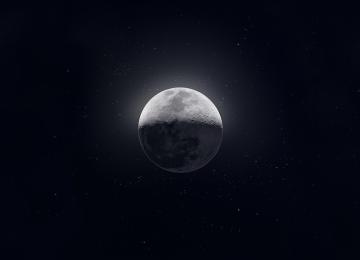 Widescreen Moon Background