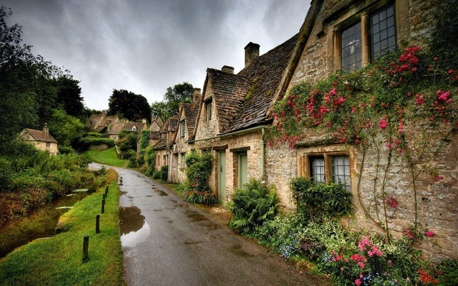 Widescreen Village Wallpaper
