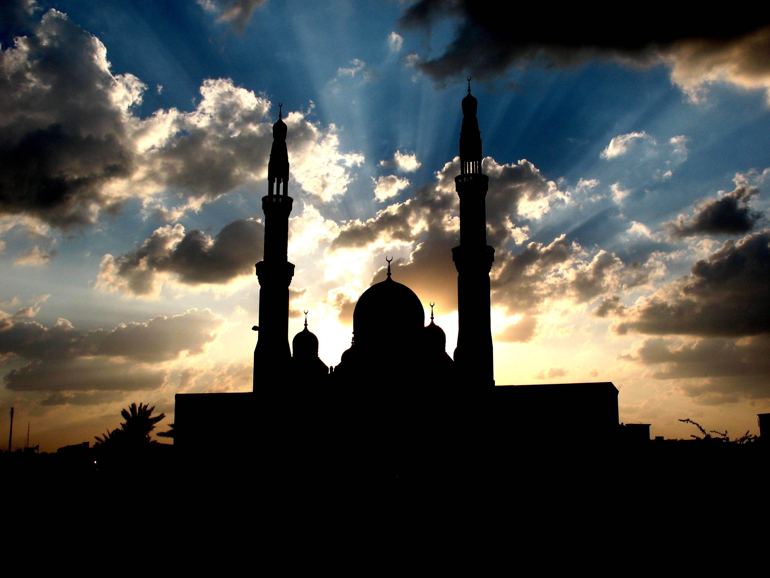 Clouds Mosque Wallpaper