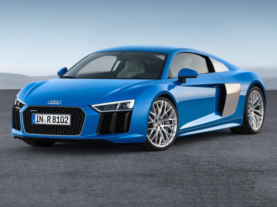 Blue Audi R8 quattro