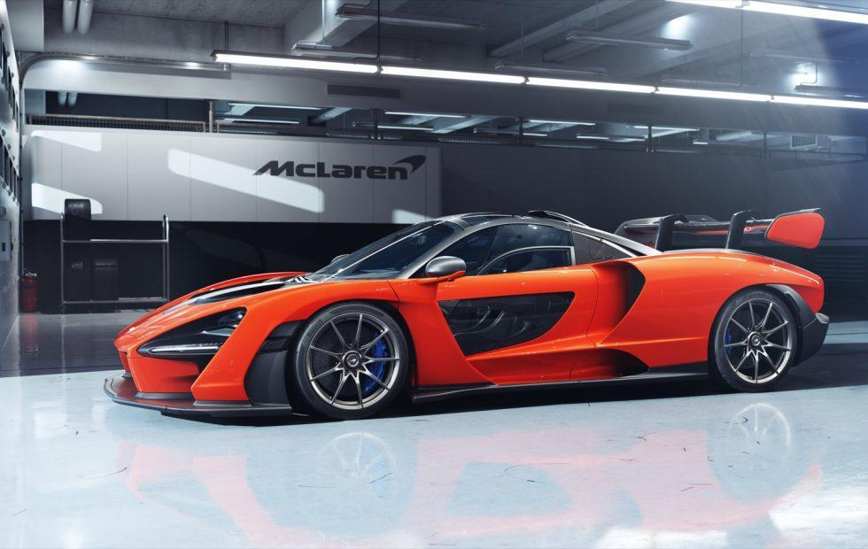 Red McLaren Senna