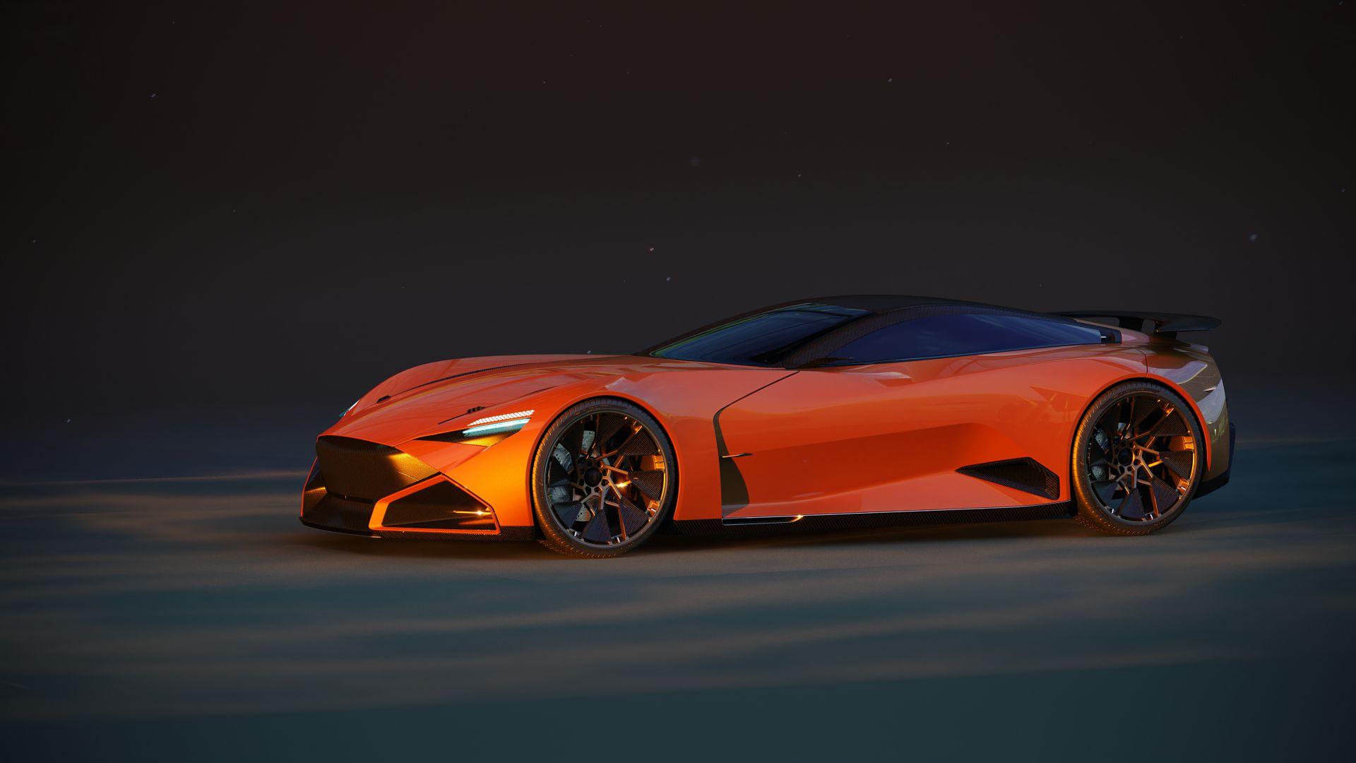Orange Continental Supercar