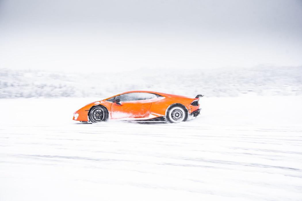 Orange Lamborghini Wallpaper